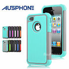 Premium Heavy Duty Shockproof Silicone Hard Cover Case for Apple iPhone 4S 4