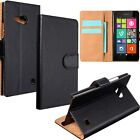 Flip Leather Cash Card Wallet Holder Case Cover Stand For Nokia Lumia 730/735
