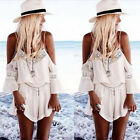 Valuable Hot Women Summer Lace Chiffon Strap Backless V Neck Short Jumpsuit WBCA