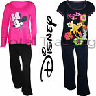 Ladies Ex Stores Pyjama Set Official Disney Pjs Minnie Bambi Pajamas Lounge