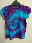 GIRLS AWESOME TIE DYE / DYED FUNKY HIPPY TOP WITH CUTE SLEEVES SIZES 1 2 3 4 5 6