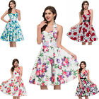 Plus Size Women 50's Retro Pinup Housewife Swing Party Evening Dress