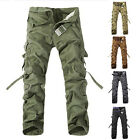 NEW MENS Cotton Military Army Cargo Combat SUMMER CASUAL LONG WORKING PANTS NEW
