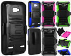Cricket ZTE Sonata 2 COMBO Holster Hard HYBRID KICK STAND Case +Screen Protector