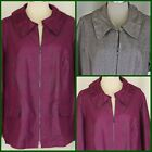 Tribal Studio Woman Birchwood Brown or Deep Orchid Zip Front Jacket 1X or 2X NWT
