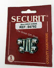 Chrome Capped Head Mirror Screws SECURIT Various Sizes Available