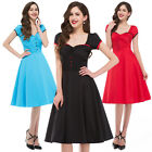 VINTAGE  Cheap New Womens Swing 1950's HOUSEWIFE Pinup Party Rockabilly Dress