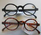1 READING GLASSES select power Thick Frame Round Retro Reader Brown or Black