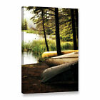 ArtWall Kevin Calkins ' Canoe Trio ' Gallery-Wrapped Canvas