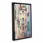 ArtWall Bill Drysdale ' Laundry Day ' Gallery-Wrapped Floater-Framed Canvas
