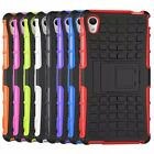 Hybrid Impact Armor Rugged Hard Case Stand Cover For Sony Xperia M4 Aqua