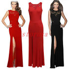 Sexy Womens Lace Cut Out Slim Fit Full-Length Evening Party Max Cocktail Dress