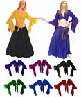 BELLYDANCE RENAISSANCE SCA COSTUME DRESS-UP GYPSY TRIBAL HAREM CHOLI CROP TOP
