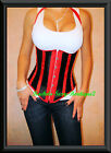 Corset Top Cupless Cincher Lace up Back Fast Ship from NEW YORK Sz S-2X