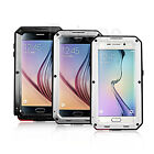 Hot R-JUST Water/Dust/Shockproof Glass Metal Case Cover For Samsung Galaxy S6 UK