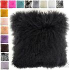 Mongolian Long Curly Wool Sheepskin Cushion / Pillow & Cushion Inner