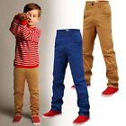 KIDS CHINO STRETCH TROUSERS TRENDY JEANS BOTTOM SUMMER BOYS FASHION 5-16 YEARS