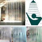 3D Water Cube Design Bathroom EVA Clear Plastic Shower Curtain Waterproof  Fabri