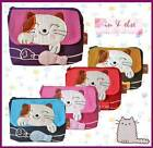 Lucky Cat & Fish Fabric Coin Purse Bag Wallet