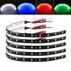 2/4pcs 3528 SMD 15LED 30cm Car Home Waterproof Flexible Strip Light Lamp 12V DIY