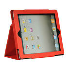 Luxmo iPad 2 and iPad 3 Folio Case with Sleep Mode Function RED LPID2STDSLPRD