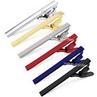 Men's Black Silver Tie Clip Bar Clasp Business Shirt Tie Clips 5.6cm