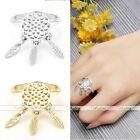 Retro Dreamcatcher Bohemian Leaf Feather Tassel Gold Silver Open Finger Ring HOT