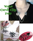 Spider Webs Cardigan Clips by Kitty Deluxe also for Hair Spooky Halloween