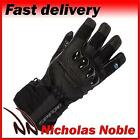 SPADA SHADOW WP Black WATERPROOF LEATHER TEXTILE ARMOURED TOURING BIKE GLOVES