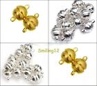 Wholesale 8/10mm Round Magnetic Clasps Silver Plated/Gold Plated 3/10 Sets