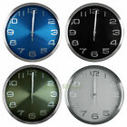 30cm Aluminum Wall Clock Solid Face Color with Embossed Number