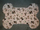 Handmade Dog Bone Shaped Food Mat Small Reversible