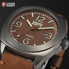 SHARK ARMY 316L Stainless Steel Case 10ATM Luminous Sport Date Wrist Watch + Box