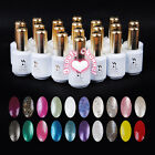 Colors Glitter Shiny Soak Off Gel Polish UV LED 15ml Nail Art Base Top Coat New