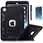 Shockproof Military Heavy Duty Hybrid Rubber Case Cover For iPad mini Air Pro