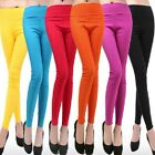 Womens Fitted Trousers Vintage Long Pants Ladies Jeggings Cotton Leggings Size 8