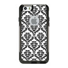 OtterBox Commuter for iPhone 5 5S SE 6 6S Plus White Black Damask Pattern