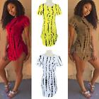 New Summer women cropped Short Sleeve Side Slit Casual Long Cotton T shirt Dress