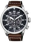 Citizen Eco-Drive Chronograph 100m Men's Sports Leather Watch CA4210-16E