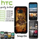 Steampunk Owl Case For HTC One M7/M8/M8 Mini/M9/S/Desire 816 Snap On