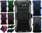For LG Lancet Hybrid Combo Holster KICKSTAND Rubber Case Phone Cover Accessory
