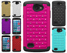 For LG Lancet HYBRID IMPACT Hard Dazzling Diamond Case Phone Cover Accessory
