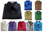 Mens Thai Silk Blend Shirts Luxury Short Sleeve Casual Textured Jacquard Weave