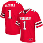 #1 Wisconsin Badgers Colosseum Big & Tall Football Jersey - Red - NCAA