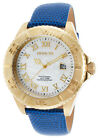 Invicta 18430 Men's Pro Diver Blue Leather MOP Dial Gold-Tone 18K Plated SS