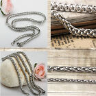 """3/4/5/6MM 18-36"""" Good Quality MENS Braided Chain Necklace Silver Stainless Steel"""