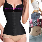 US 4 Spiral Steel Boned Waist Training Cincher Shaper Black Corset Shapewear GT1