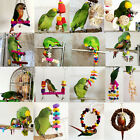 Pet Bird Parrot Swing Toys Cage Chew Bite Parakeet Cockatiel Cockatoo Budgie