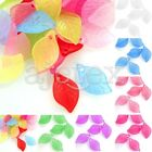 69pcs Vogue Acrylic Beads Jelly-like Jewelry Leaf Spacer Wholesale 18x11x3mm