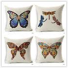 New 45*45cm Butterfly Square Cotton Linen Cushion Cover Pillow Case Home Decor